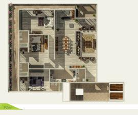 Villa-Flat 350m²