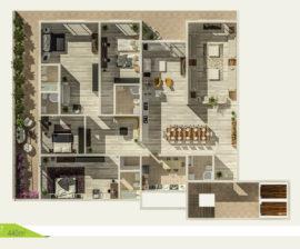 Villa-Flat 440m²